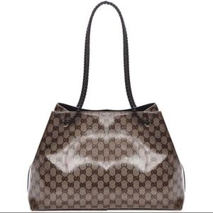 AUTHENTIC GUCCI Crystal Monogram Gifford Tote Bag